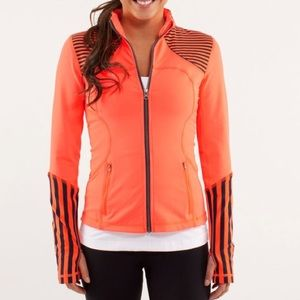 Lululemon Forme Jacket Light Flare Stripe Orange